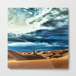 Tardis Art With Soft Clouds Metal Print