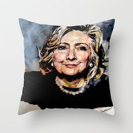 HILLARY CLINTON OFFICIAL PORTRAIT Throw Pillow