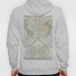 Old Map of The Globe Hoody