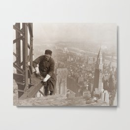 Empire State Building Construction Metal Print