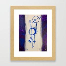 Cosmic Signs Framed Art Print