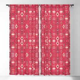 N227 - Pink Heritage Oriental Eclectic Traditional Moroccan Style Blackout Curtain