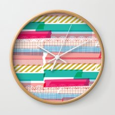 Washi Wall Clock