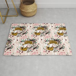 Tiger and Pug Japanese style Rug