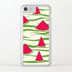 Watermelon pattern . 2 Retro . Clear iPhone Case