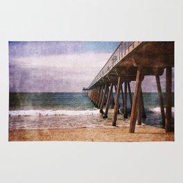 California Pacific Ocean Pier Rug