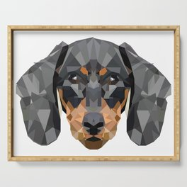 Dachshund | Low-poly Art Serving Tray