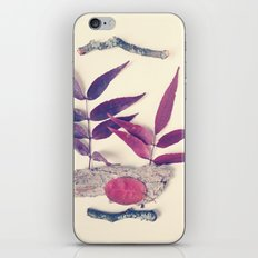 Red Leaf and Twigs Collection iPhone Skin