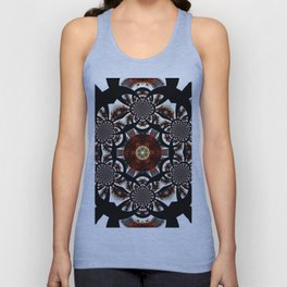 Production Of Flowers Into Abstract Unisex Tank Top