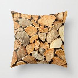 natural wood Throw Pillow