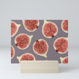 Big Figs Pattern grey Mini Art Print