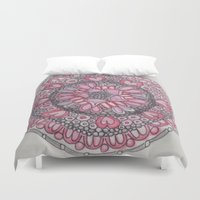 valentine Duvet Covers featuring Valentine by Fiona Fieldhouse