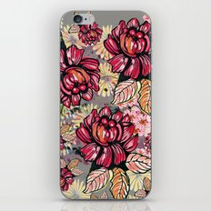 Roses and cherry blossom pattern iPhone Skin