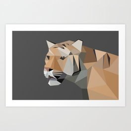 Tiger Illustration Art Print