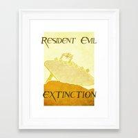 resident evil Framed Art Prints featuring Resident Evil Extinction by JackEmmett