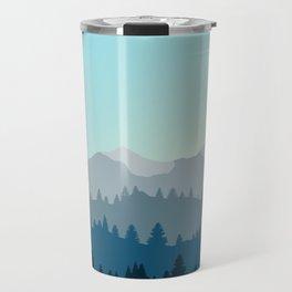 Face This Mountain (No Text) Travel Mug