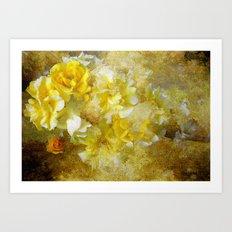Bright Textured Rose Art Print