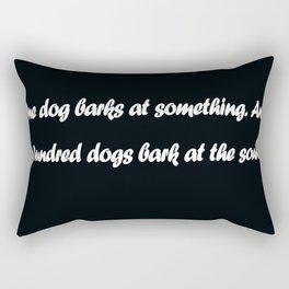 Chinese Proverb Rectangular Pillow