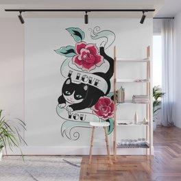 Tattoo Tux Cat Wall Mural