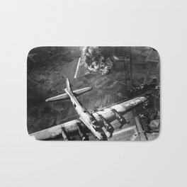 B-17 Bomber Over Germany Painting Bath Mat