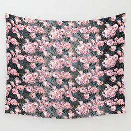 Night Rose Garden Pattern Wall Tapestry