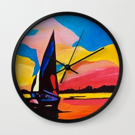 Cheat the Storm, Clearwater Beach, FL Wall Clock