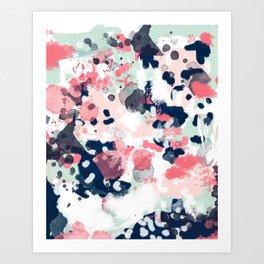 Hayes - abstract painting minimal trendy colors nursery baby decor office art Art Print