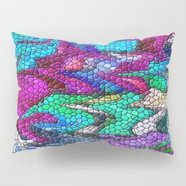 Stain Glass Mosiac Abstract Pillow Sham