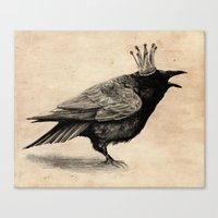 raven Canvas Prints featuring Raven by Anna Shell