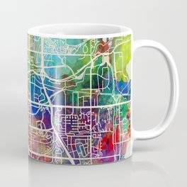 Boulder Colorado City Map Coffee Mug