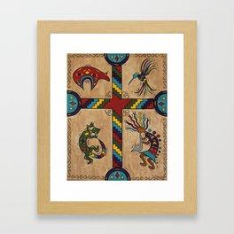 Southwestern Cross Framed Art Print