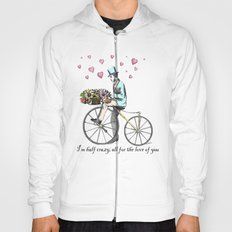 Spring time bicycle romance Hoody