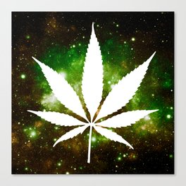 Weed : High Times Galaxy Canvas Print
