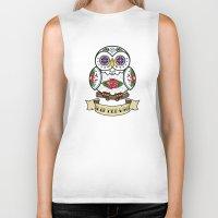 hedwig Biker Tanks featuring Hedwig Sugar Skull by Artpunk101