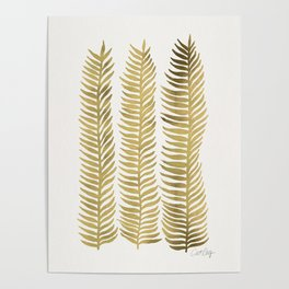 Golden Seaweed Poster