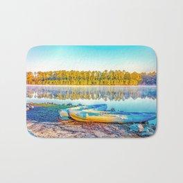 Canoes Lakeside Bath Mat