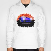 lamborghini Hoodies featuring Lamborghini Gallardo (2) by JT Digital Art
