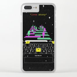 """"""" Love story """" Clear iPhone Case"""