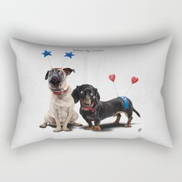 What's the Deely? Rectangular Pillow