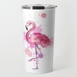 Pretty Flamingo Travel Mug