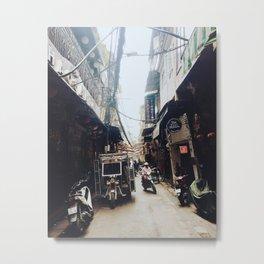 HANOI, VIETNAM OLD QUARTER ALLEY Metal Print