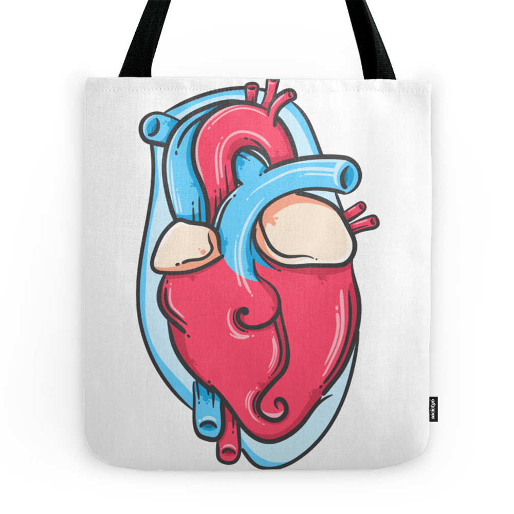 Realistic Heart Tote Purse by winterfree (TBG9961629) photo