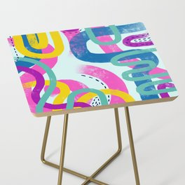 Fun bright abstract art Side Table