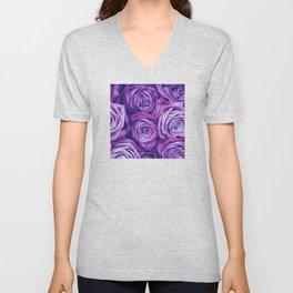 Purple Gothic Roses, Luxurious and Chic Unisex V-Neck
