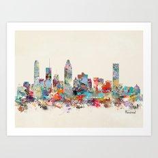 Montreal Quebec skyline Art Print