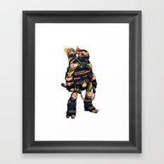 Dark Party Dude Framed Art Print