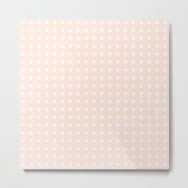 Soft Pink Polka Dots Metal Print