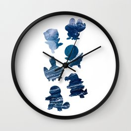 The Water Types Wall Clock