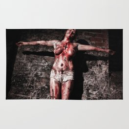 Crucified Woman by MB Rug
