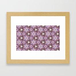 Line Flora Purples Framed Art Print